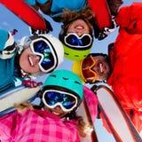 Skifahren, Winterspaß Lizenzfreies Stockfoto