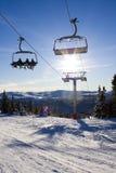 Skifahrenaufzug Stockfotos