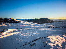 Skifahrenbereich nahe Amden Lizenzfreies Stockfoto
