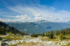 Skifahrenerholungsort im Pfeifer stockfotografie