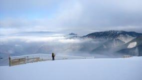 Skifahrenexpedition Stockfotografie