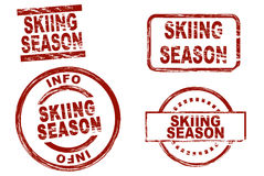 Skifahrenjahreszeit Lizenzfreie Stockfotos