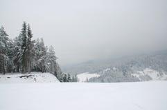 Skifahrenplatz Stockbild