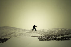 Skifahrer über Park City stockfotografie