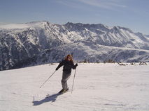 Skifahrer Stockbild