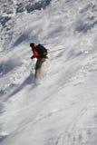 Skifahrer auf Mont Blanc Lizenzfreie Stockfotografie