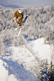 Skifahrer Freeride-Extrem Stockfotos