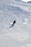 Skifahrer im Puderschnee Lizenzfreies Stockbild