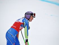 Skifahrer-Tina-Labyrinth auf Ski-Weltcup 2011/2012 Lizenzfreie Stockfotografie
