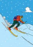 Skifahrer-Vektor Stockfotos