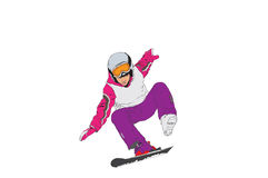 Skifahrer. Vektorbild Lizenzfreie Stockfotografie