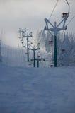 Skifahrer wegen des Mangels an Wirtschaftskrise Stockfotos