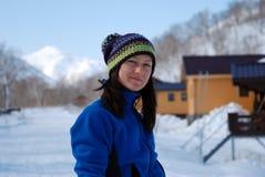 Skifahrermädchen Lizenzfreies Stockbild