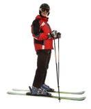 Skifahrermann stockfotografie