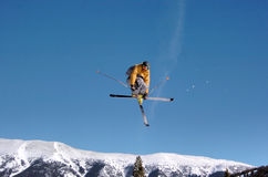 Skifahrerstummzupacken Lizenzfreie Stockbilder