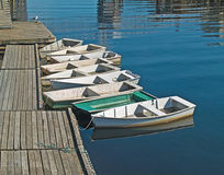 Skiff row Stock Photos