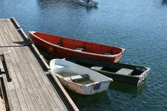 Skiffs in a harbor Royalty Free Stock Photos