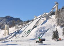 Skiflying facilities Royalty Free Stock Images