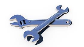 Skiftnyckel och härma-skiftnyckel Arkivfoton