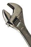 Skiftnyckel på vit Arkivfoto