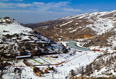 Skigebiet Stockfoto