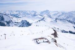 Skigebiet Diedamskopf stock afbeeldingen
