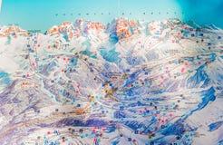 Skigebiet von Madonna di Campiglio stockfotos
