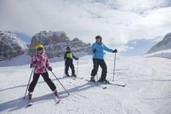 Skigroep Stock Foto