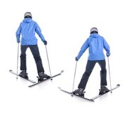 Skiier demonstrate how to slide forward Royalty Free Stock Photos