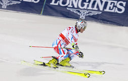 Skiier Julien Lizeroux skiing at a slalom event Stock Images