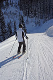 Skiing man Stock Photos
