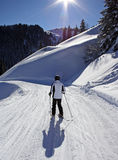 Skiing man Stock Photo