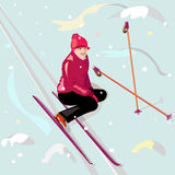 Skiing Royalty Free Stock Image
