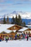 Skiing alps Stock Image