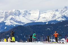 Skiing alps Royalty Free Stock Photo
