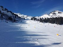 Skiing. In the Alps Royalty Free Stock Photography