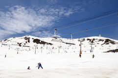 Skiing in Andorra Royalty Free Stock Images