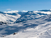 Skiing area in the Alps Royalty Free Stock Photo