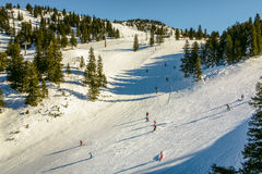 Skiing area in the Alps Stock Photos