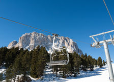 Skiing area in the Dolomites Alps. Stock Photos