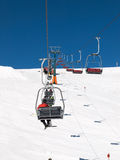Skiing area in the Dolomites Alps. Royalty Free Stock Images