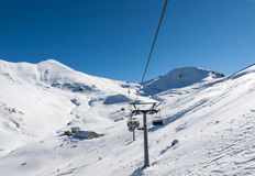 Skiing area in the Dolomites Alps. Stock Photography