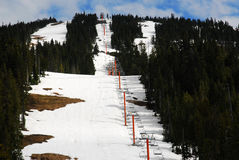 Skiing area in mountain washington Stock Images