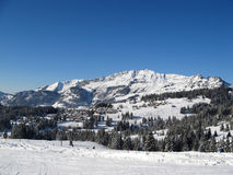 Skiing area near Amden Royalty Free Stock Image
