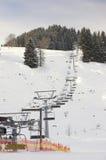 Skiing area in Soell (Austria) - ski lift Royalty Free Stock Photos