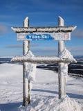 Skiing area of Ylläs Royalty Free Stock Photography