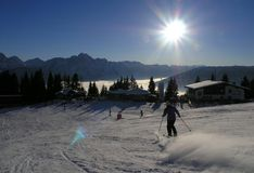 Skiing in Austria. Lienz - Ski resort in Austria Royalty Free Stock Image