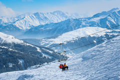 Skiing in Austria Stock Photos