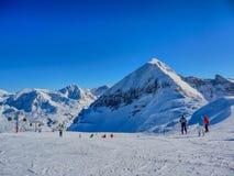 Skiing in Austria Stock Image