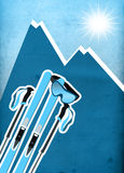 Skiing background Stock Photography